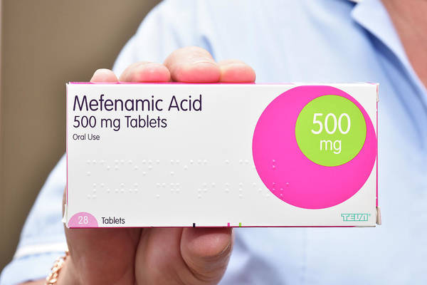Pharmacology Wall Art - Photograph - Mefenamic Acid Drug Packaging by Dr P. Marazzi/science Photo Library