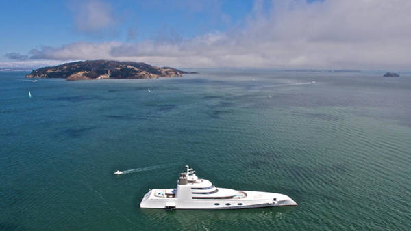 Photograph - Mega Yacht San Francisco Bay by Steven Lapkin