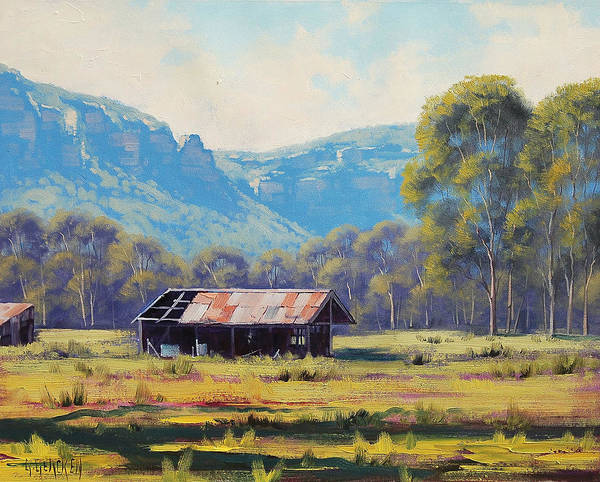 Shed Wall Art - Painting - Megalong Valley Shed by Graham Gercken