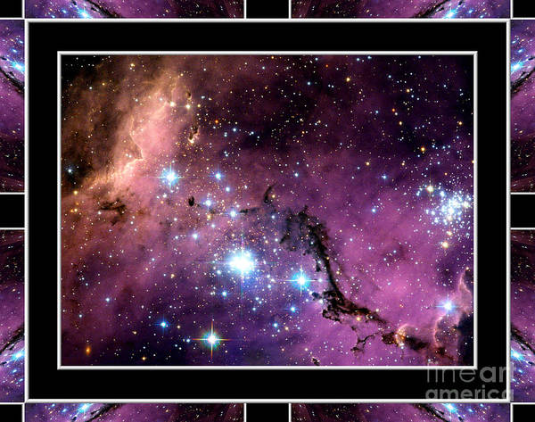 Photograph - Megellanic Cloud With Self Frame by Rose Santuci-Sofranko