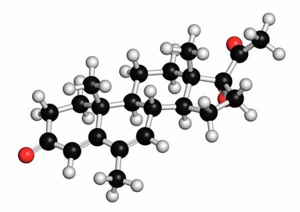 3d Model Photograph - Megestrol Molecule by Molekuul
