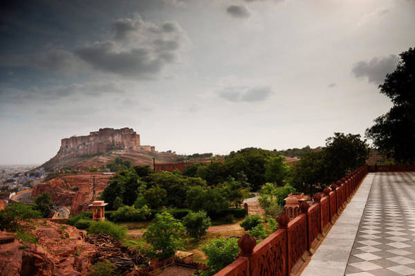 Tile Floor Wall Art - Photograph - Mehrangarh Fort by Amit R