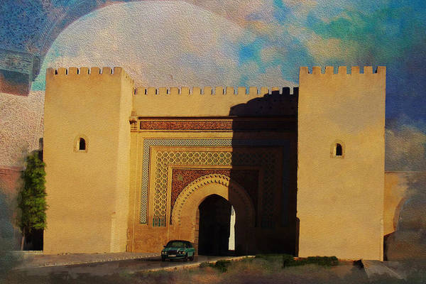 Medina Wall Art - Painting - Meknes by Catf