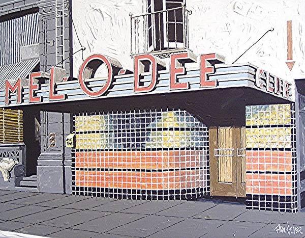 Mel O Dee Club Art Print by Paul Guyer