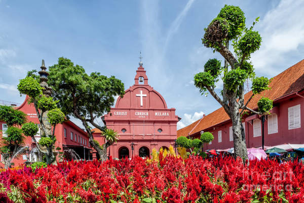 Square Tower Photograph - Melaka Red Square by Adrian Evans