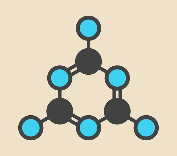 Fire Ring Photograph - Melamine Molecule by Molekuul