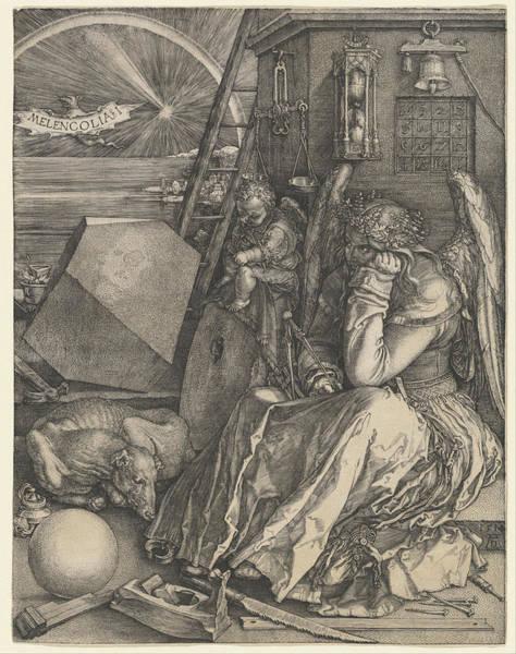 German Renaissance Drawing - Melancholia I by Albrecht Durer