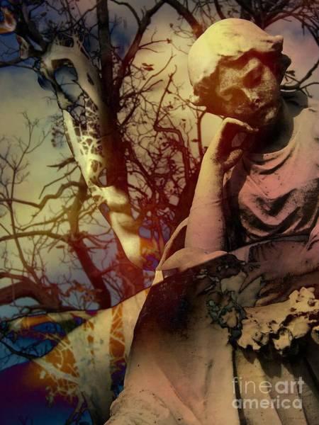 Liz Digital Art - Melancholy Garden by Elizabeth McTaggart