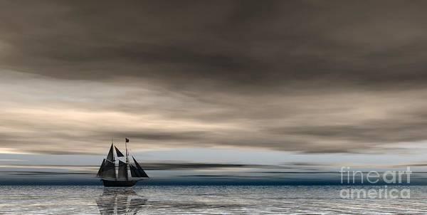 Digital Art - Melancholy Waters by Sandra Bauser Digital Art