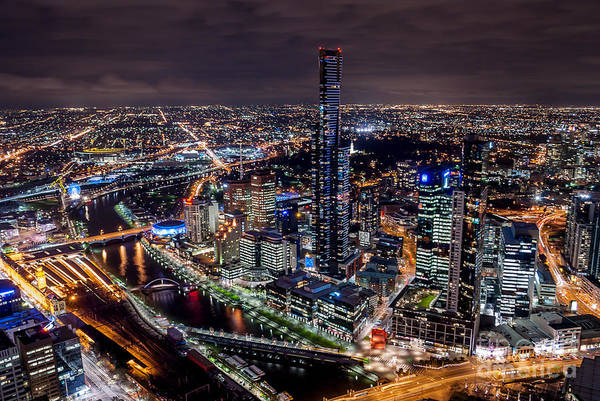 Photograph - Melbourne At Night IIi by Ray Warren
