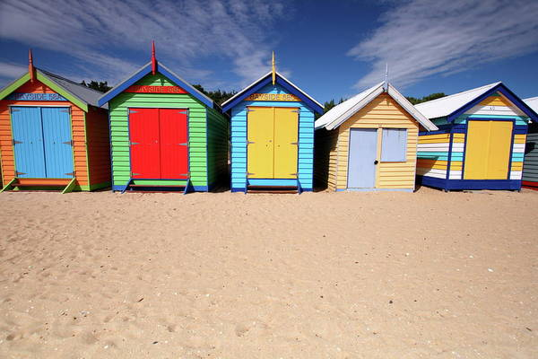 Wall Art - Photograph - Melbourne Beach Huts In Australia by Tim Phillips Photos