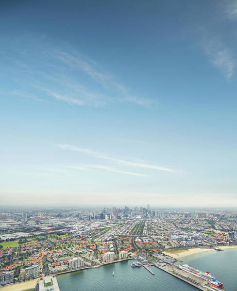 Victoria Tower Wall Art - Photograph - Melbourne City Ariel Skyline by Aaron Foster