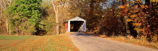 Yesterday Photograph - Melcher Covered Bridge Parke Co In Usa by Panoramic Images