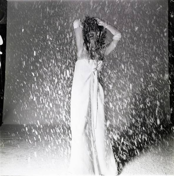Photograph - Melina Mercouri In Snow by Bert Stern