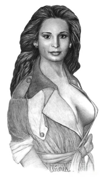 Drawing - Melinda by Joe Olivares