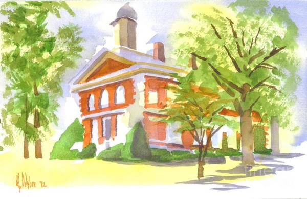 Painting - Mellow September At The Courthouse by Kip DeVore