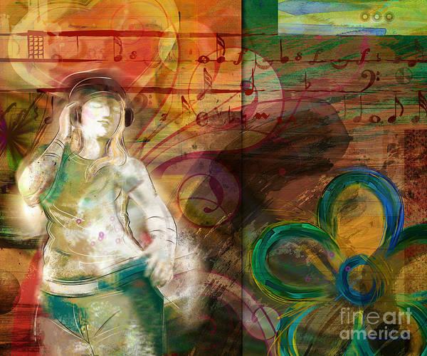 Play Music Digital Art - Melody by Peter Awax