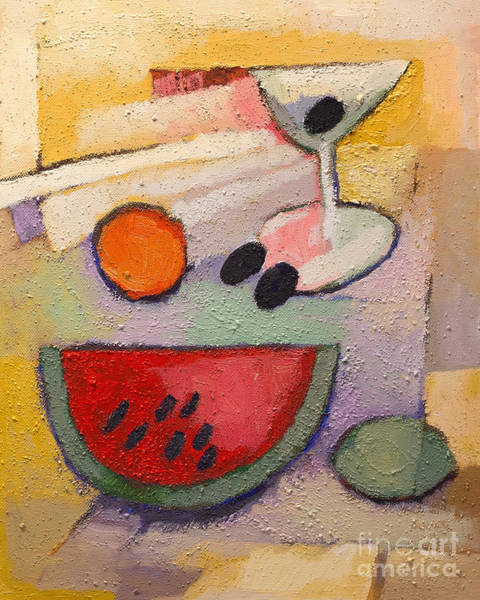 Painting - Melon Martini by Lutz Baar