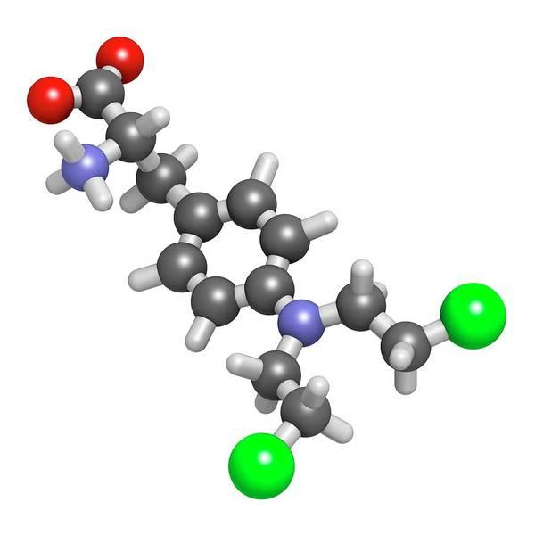 3d Model Photograph - Melphalan Cancer Chemotherapy Drug by Molekuul