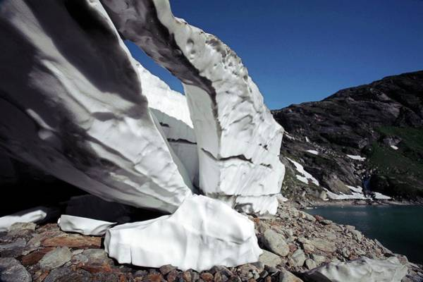 Wall Art - Photograph - Melting Firn Ice by Michael Szoenyi/science Photo Library