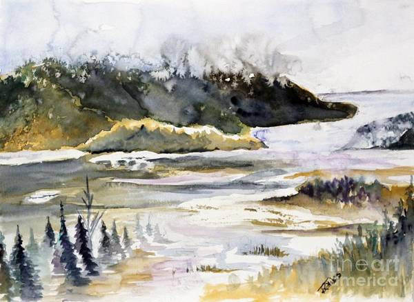 Melting Glacier Art Print