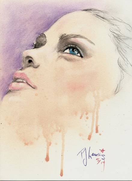 Mixed Media Drawing - Melting Youthful Beauty by PJ Lewis