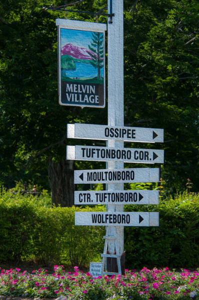 Photograph - Melvin Village Sign by Brenda Jacobs