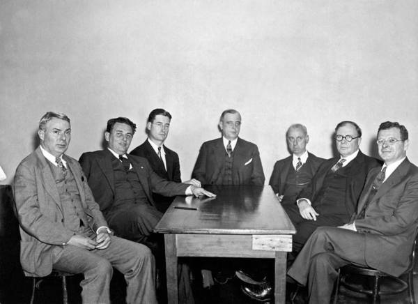 Depression Photograph - Members Of The Nra Board by Underwood Archives