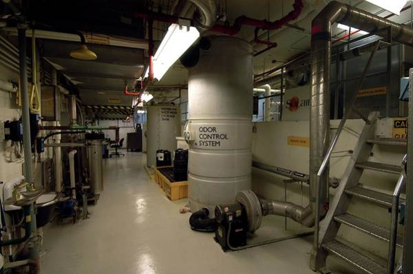 Eco-system Photograph - Membrane Bioreactor Sewage Treatment by Quincy Russell, Mona Lisa Production/ Science Photo Library