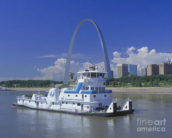 Mississippi River Photograph - Memco Towboat In St Louis by Garry McMichael