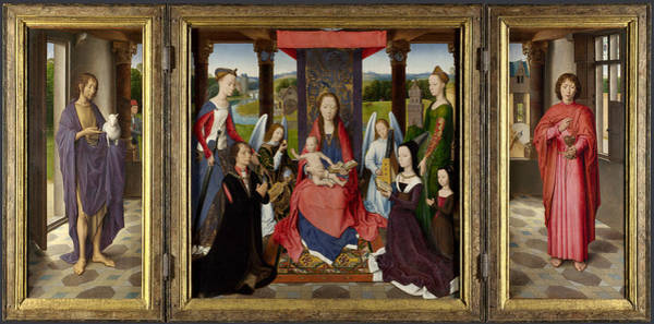 Wall Art - Painting - Memling Donne Triptych by Granger