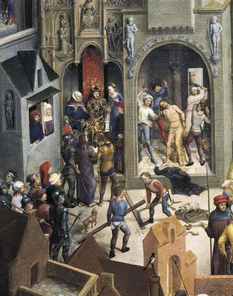 Pontius Pilate Wall Art - Photograph - Memling, Hans 1433-1494. Passion by Everett