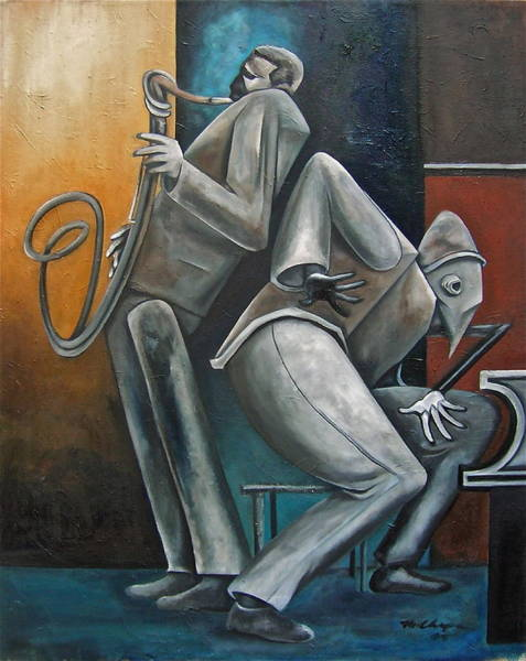 John Coltrane Wall Art - Painting - Memorial 5 Spot by Martel Chapman