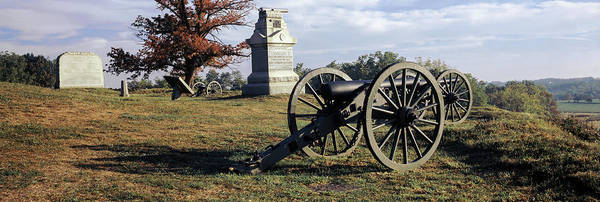 Battle Field Photograph - Memorial At Gettysburg National by Panoramic Images