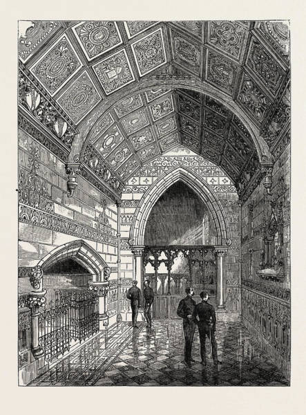Wall Art - Drawing - Memorial Chapel Erected At Windsor To The Memory by Egyptian School