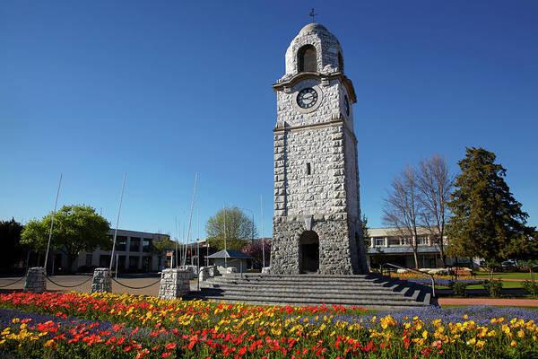 Wall Art - Photograph - Memorial Clock Tower, Seymour Square by David Wall