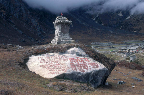 Wall Art - Photograph - Memorial In Nepal by Alison Wright