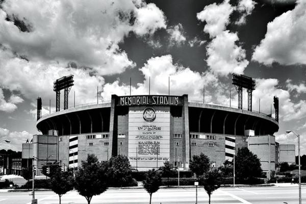 Baltimore Colts Photograph - Memorial Stadium by Benjamin Yeager