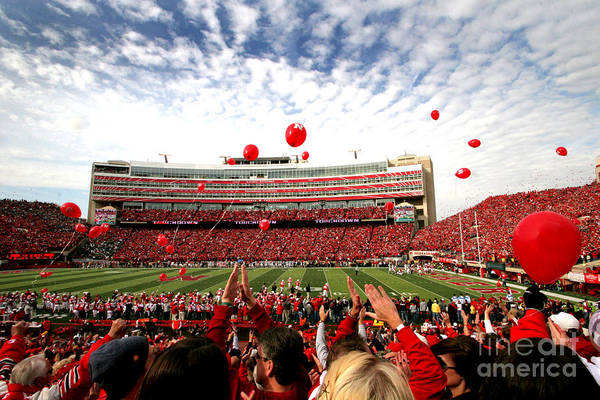 Nebraska Photograph - Memorial Stadium by Jennifer Mecca