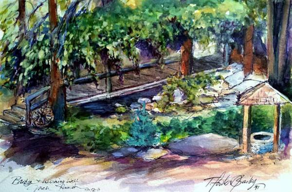 Wishing Well Painting - Memories Are Made Here by Therese Fowler-Bailey