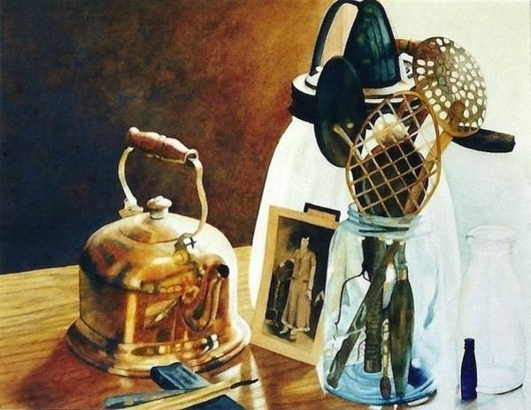 Butter Churn Painting - Memories by Brenda McCollum
