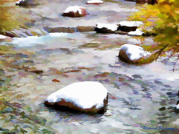 Digital Art - Rocky Mountain Stream by Rich Stedman