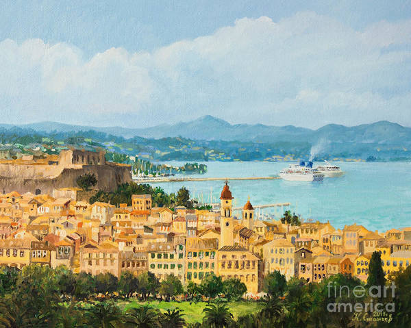 Wall Art - Painting - Memories Of Corfu by Kiril Stanchev