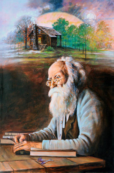 Wall Art - Painting - Memories Of John Burroughs by John Lautermilch