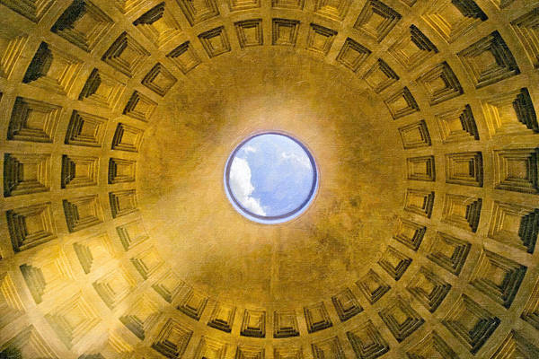 Photograph - Memories Of Rome - Oculus Of The Pantheon by Mark E Tisdale