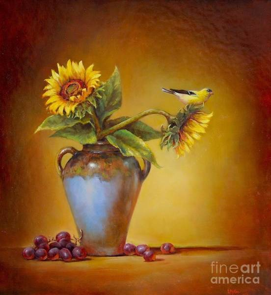 Goldfinch Wall Art - Painting - Memories Of Summer by Lori  McNee