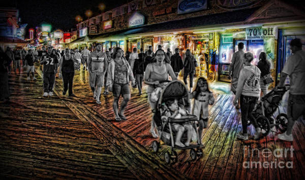 Wall Art - Photograph - Memories Of Summer Nights Past - The American Boardwalk  by Lee Dos Santos