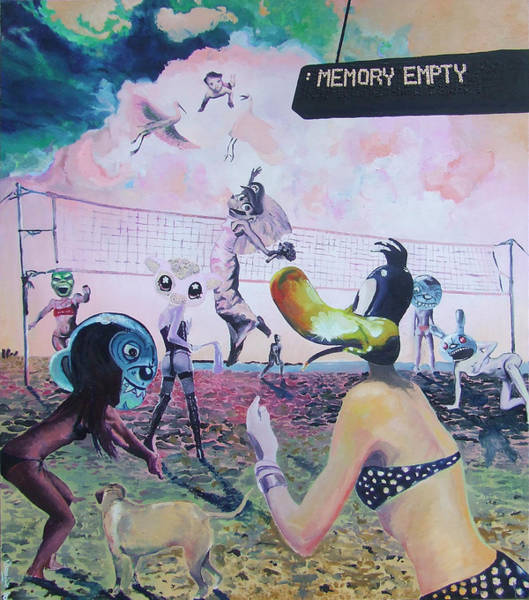 Volley Painting - Memory Empty by Dominic-Petru Virtosu