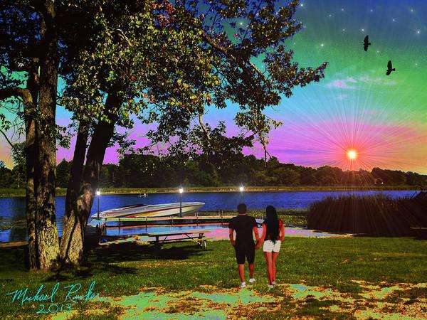 Speed Boat Digital Art - Memory Lane by Michael Rucker