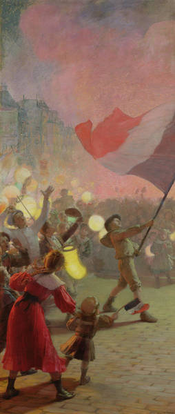 Marching Painting - Memory Of The National Festival by Hippolyte Berteaux